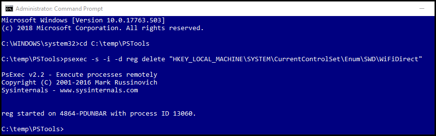Clear Miracast profiles from Registry in Windows 10 with